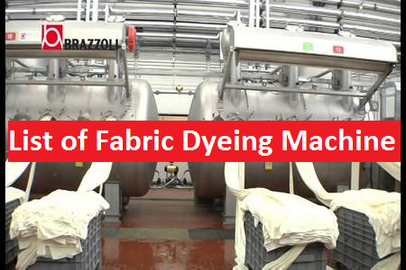Types of Fabric Dyeing Machine Used in Textile Industry