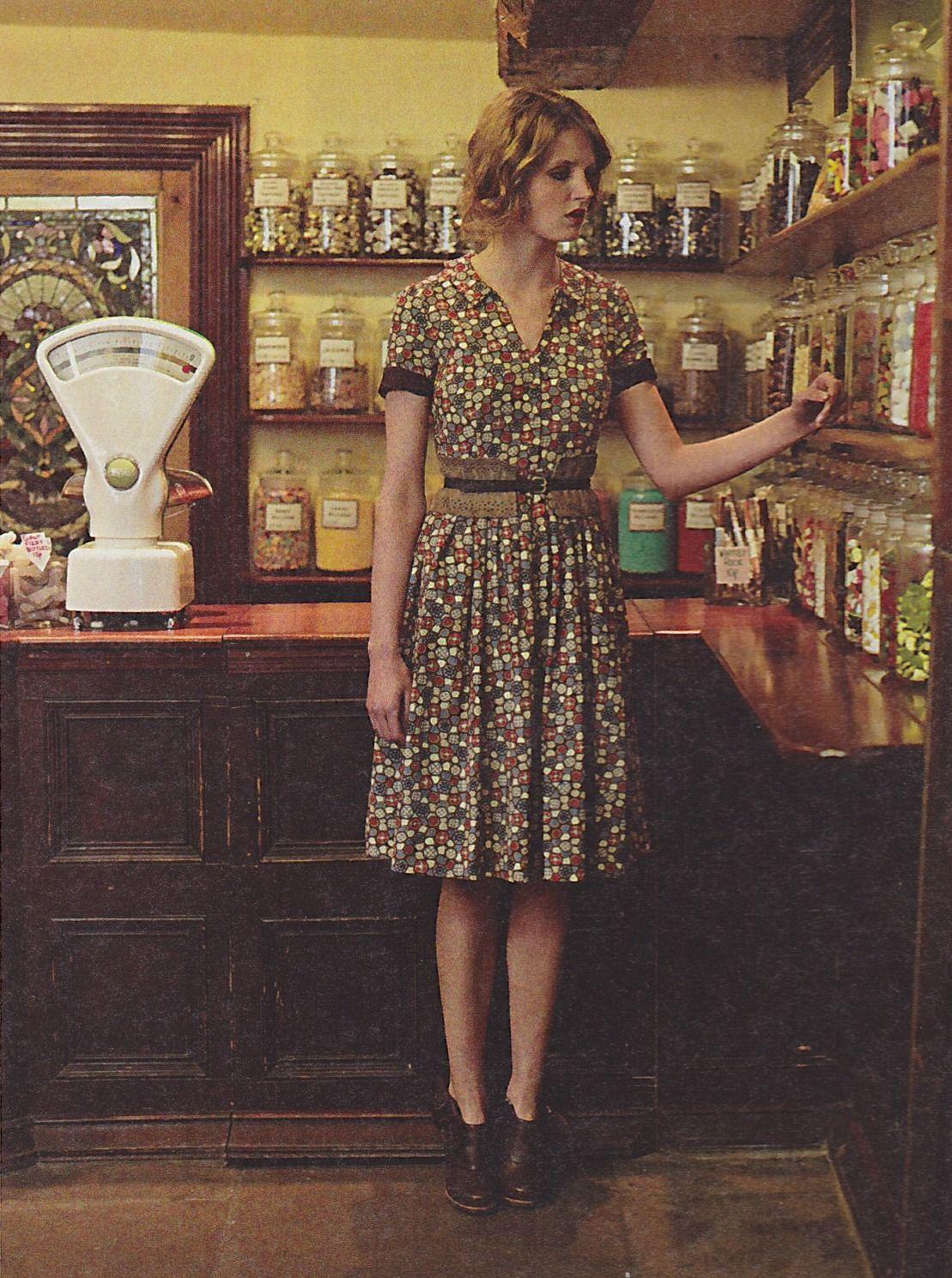 shirtwaist dress | via Anthropologie Catalog (August 2010)