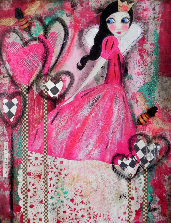 Queen of Hearts 2012 design 5x7 VALENTINE Art Card
