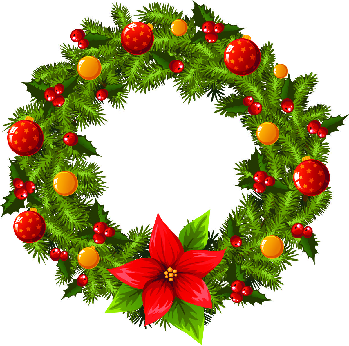 9 Christmas Wreath Vector Free Images Christmas vectors