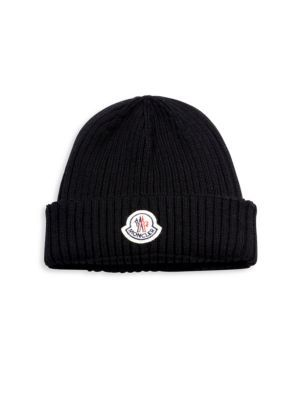 ab24fdded85 MONCLER Ribbed Virgin Wool Beanie.  moncler  beanie