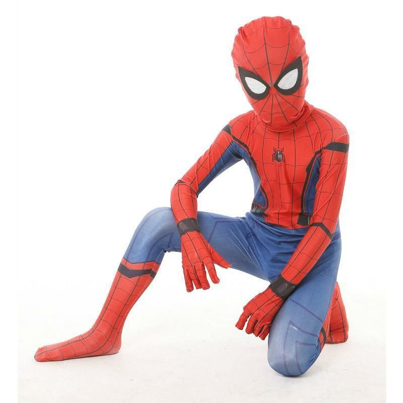 Boys Kids Superhero Spiderman Cosplay Costume Fancy Dress Up Casual Outfits Set