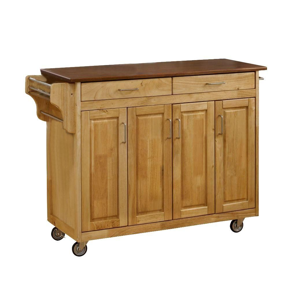 Best Homestyles Create A Cart Natural Kitchen Cart With Oak 400 x 300