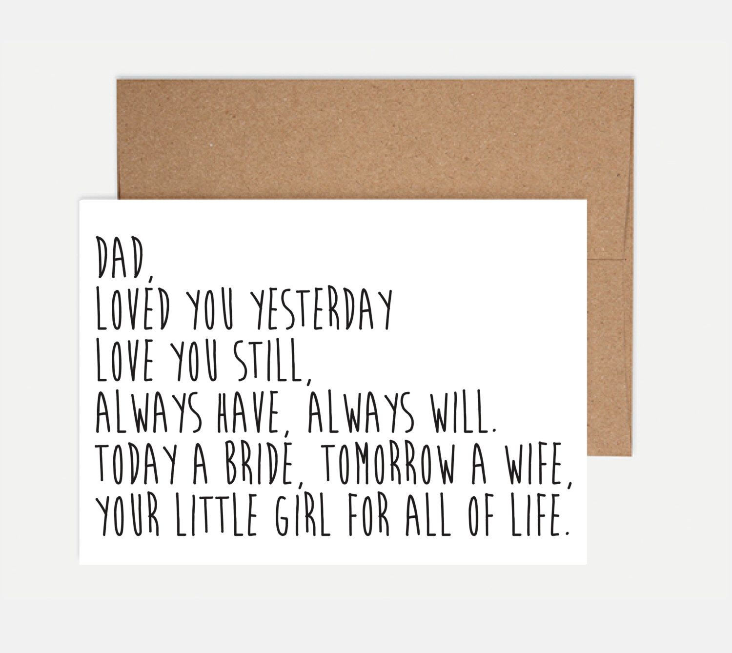 Father Of The Bride Card Wedding By Shortbchampers On Etsy Https