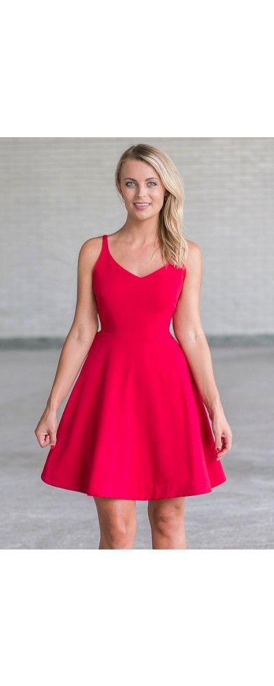 Red sunday dress