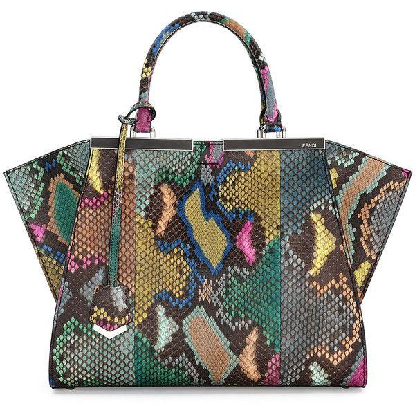b38a572c5f Fendi Trois-Jour Petite Painted Python Tote Bag (£5