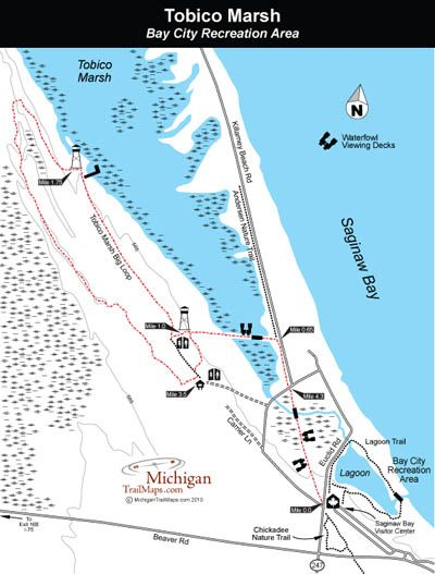 Bay City Sra Tobico Marsh Frank N Andersen Nature Trail Bay City Michigan Water Recreation Area