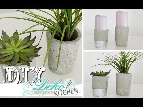Diy blumen bert pfe aus beton selber machen deko kitchen youtube concrete candel diy - Youtube deko kitchen ...