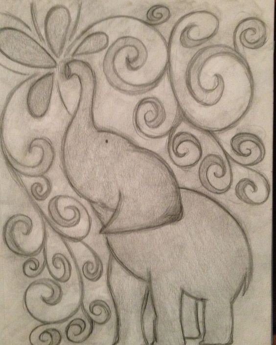 Easy Elephant Drawing Tumblr Google Search Painting Trace Outs