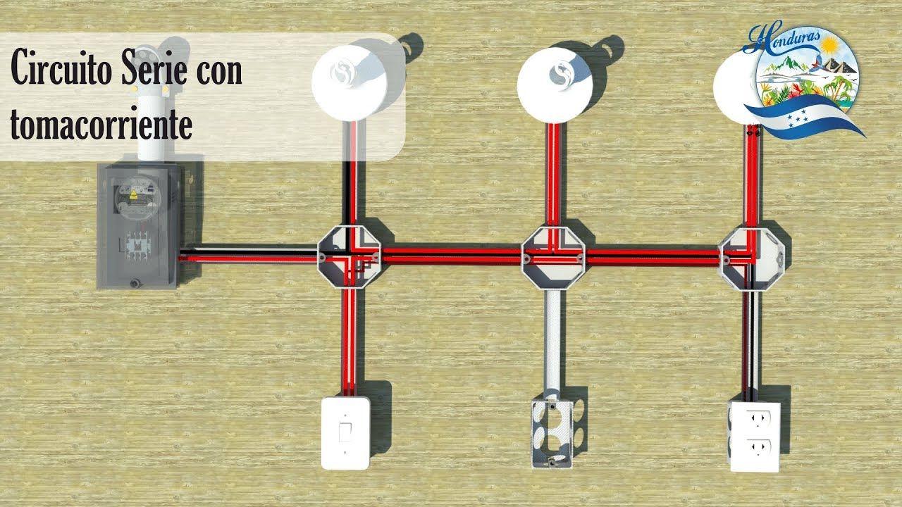 Circuito En Serie : Conexión e instalación de un circuito en serie con tomacorriente