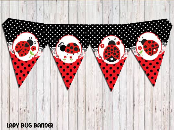 ladybug banner ladybug birthday banner party banner banner