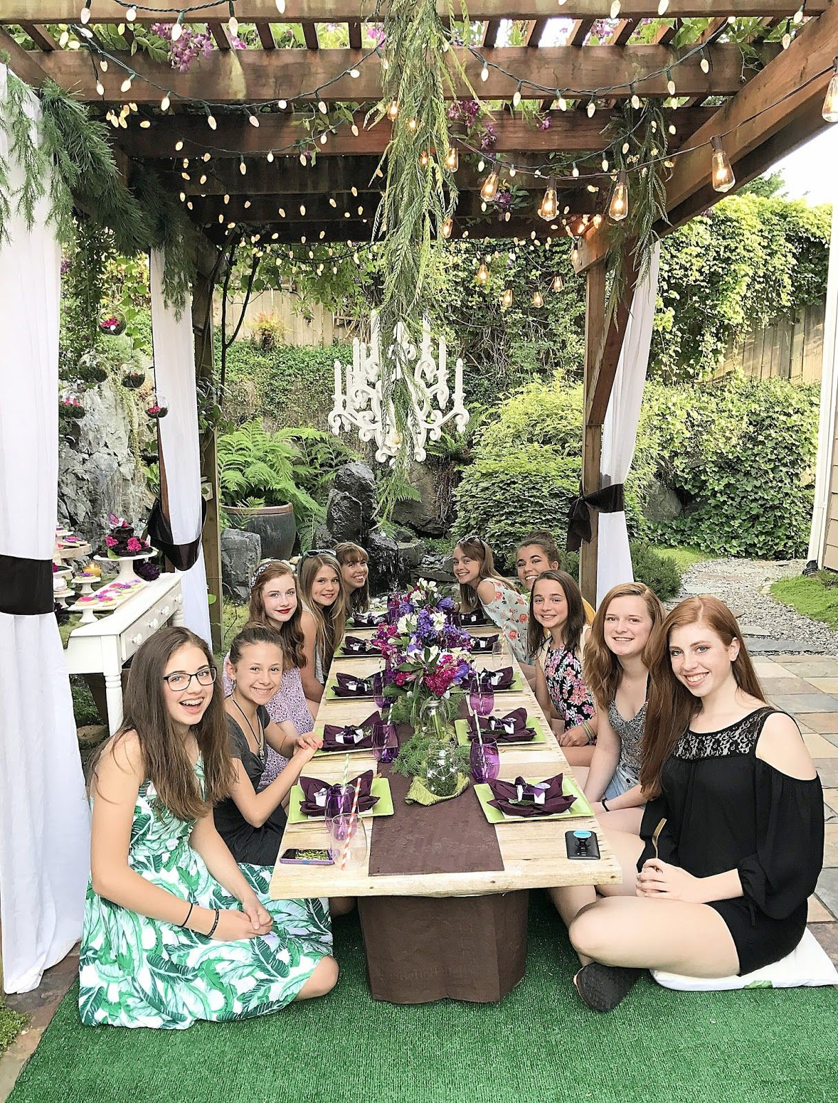Midsummer Night Soiree Teenage Birthday Party 13th Birthday Party Ideas For Girls Boho Birthday Party