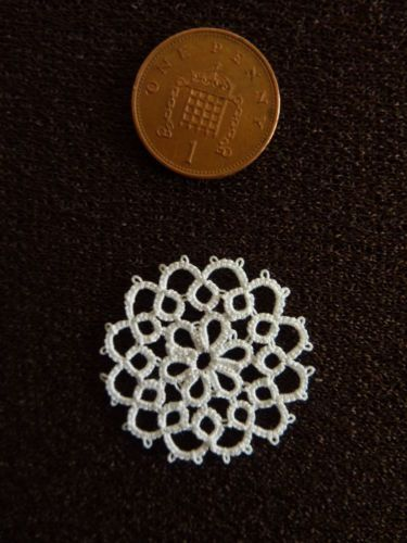 Dolls House White Tablemat Made from Tatting | eBay