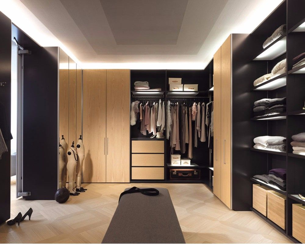 Competitive price modern l shaped walk in wardrobe design ...