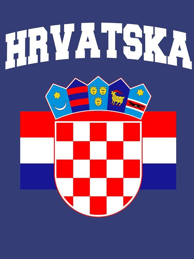 bc04dc86d CROATIA Croatian Flag Soccer Hrvatska Jersey Style T-shirt
