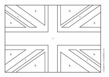 United Kingdom Color In Flag Worksheet Preschool United