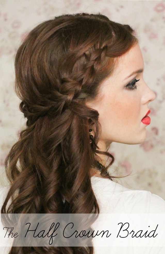 Wedding Hairstyles For Medium Hair Alluring Holiday Hair Week The Half Crown Braid  Hair Inspirationjoni