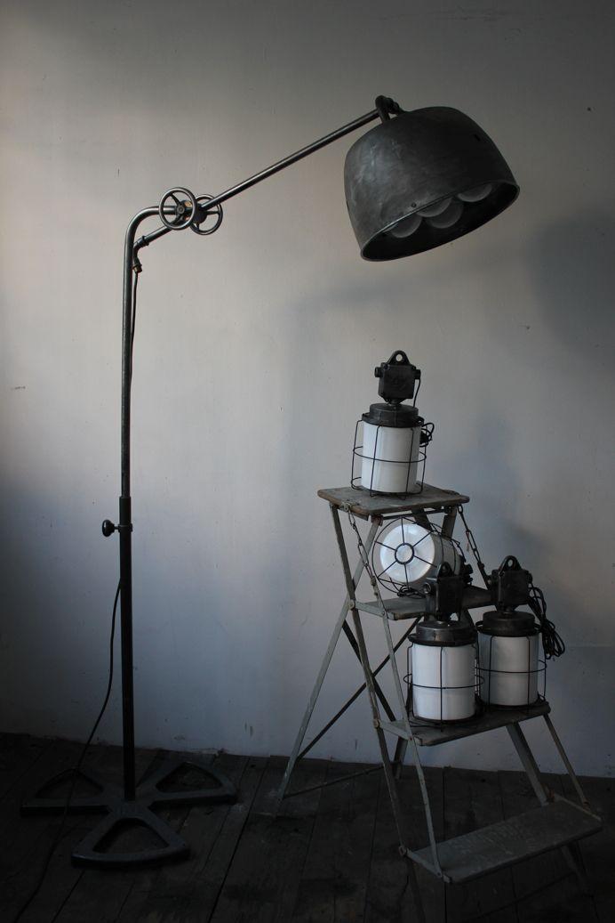 lampe sur pied carrossier atelier r g levallois lamp. Black Bedroom Furniture Sets. Home Design Ideas