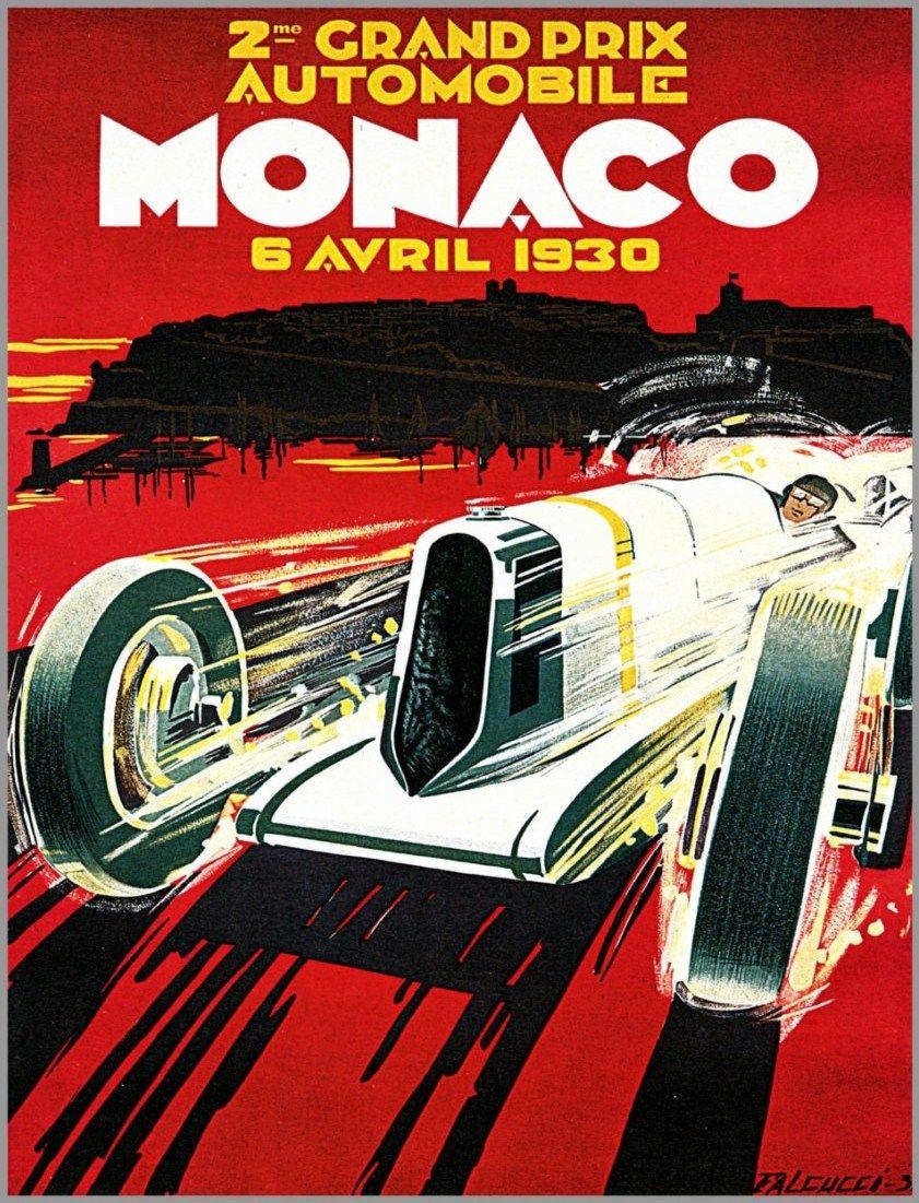 Affiche - Grand Prix de Monaco (1930) Robert Falcucci