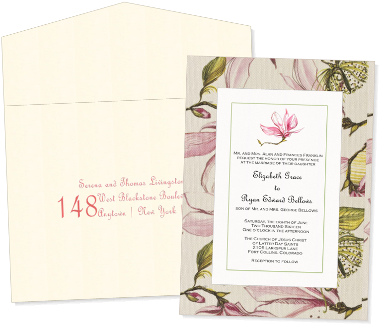 Beautiful custom wedding invitation 100 customizable with your