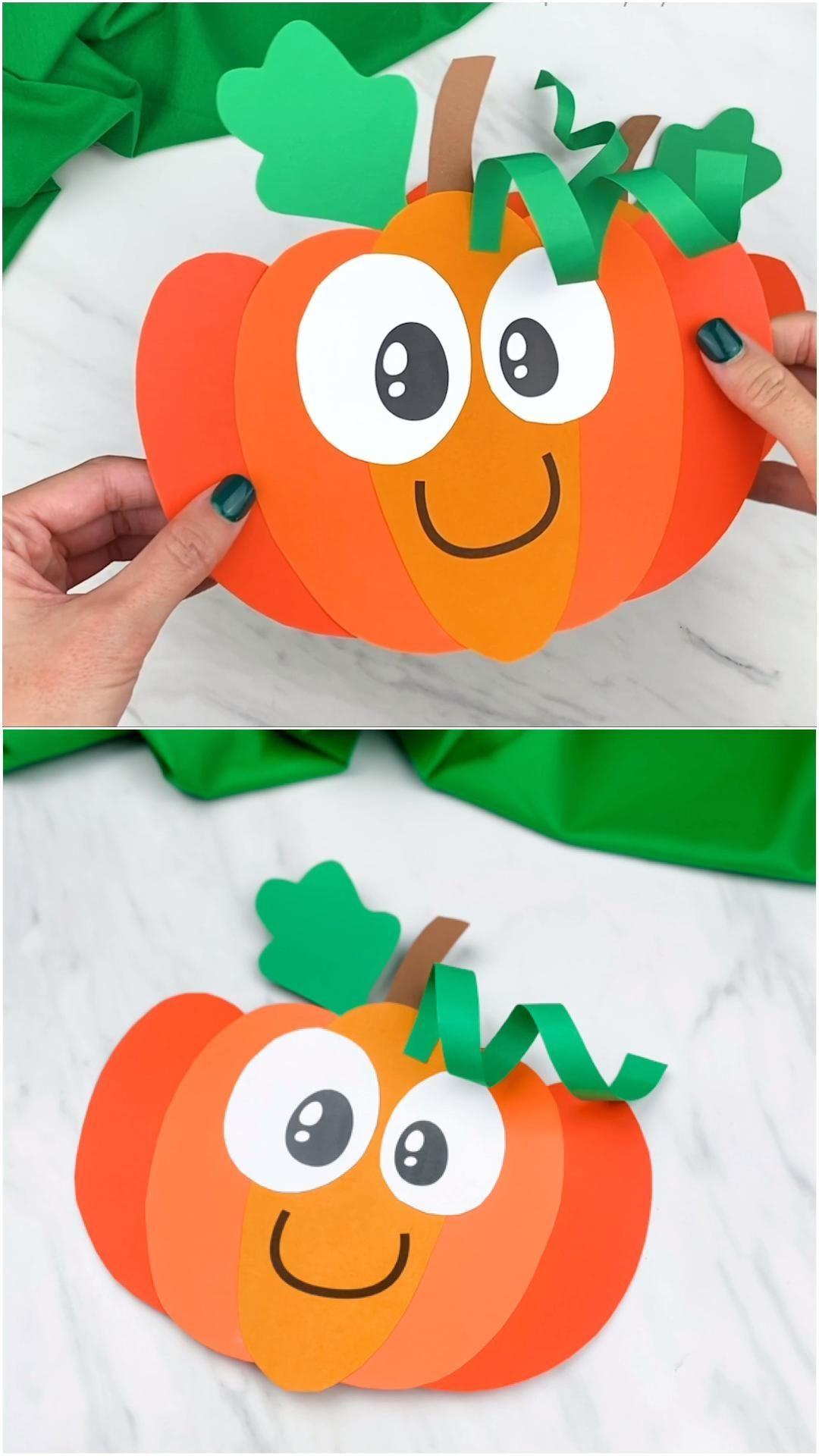 Pumpkin Craft For Kids In