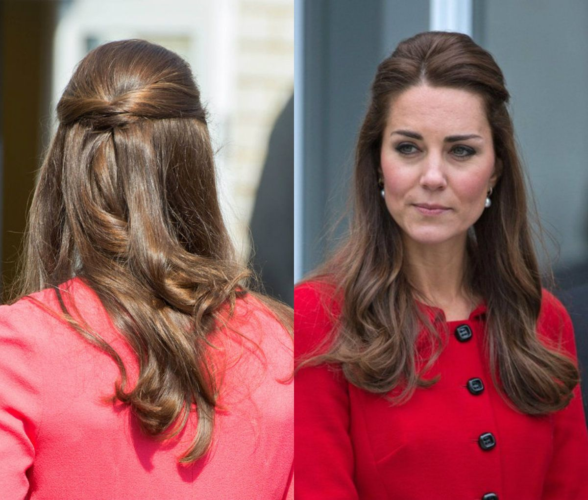 Kate Middleton Half Updo Hairstyles 2017 Hair Style Pinterest