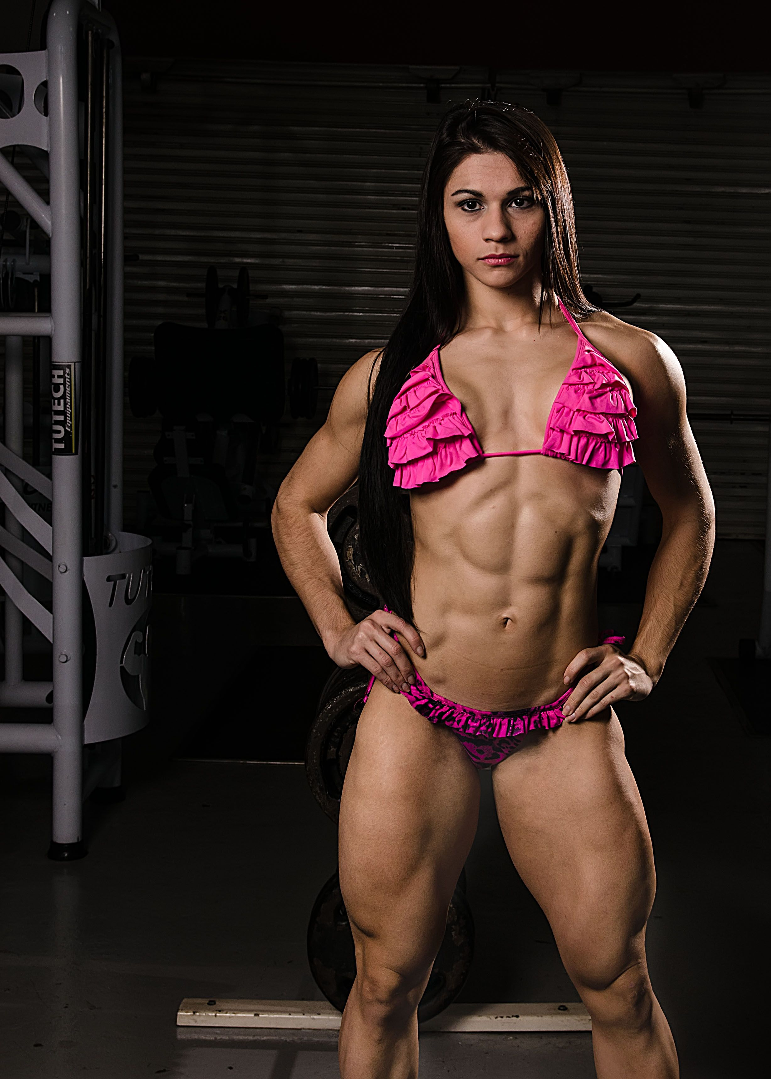 Nude Female Weightlifter