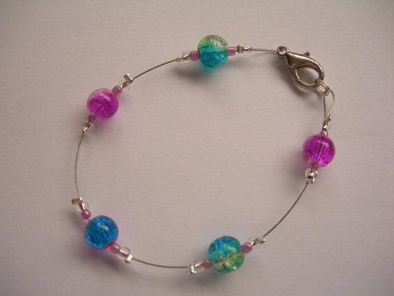 Kit to make 2 bracelets with glass beads by JoelleHarris on Etsy, £5.00