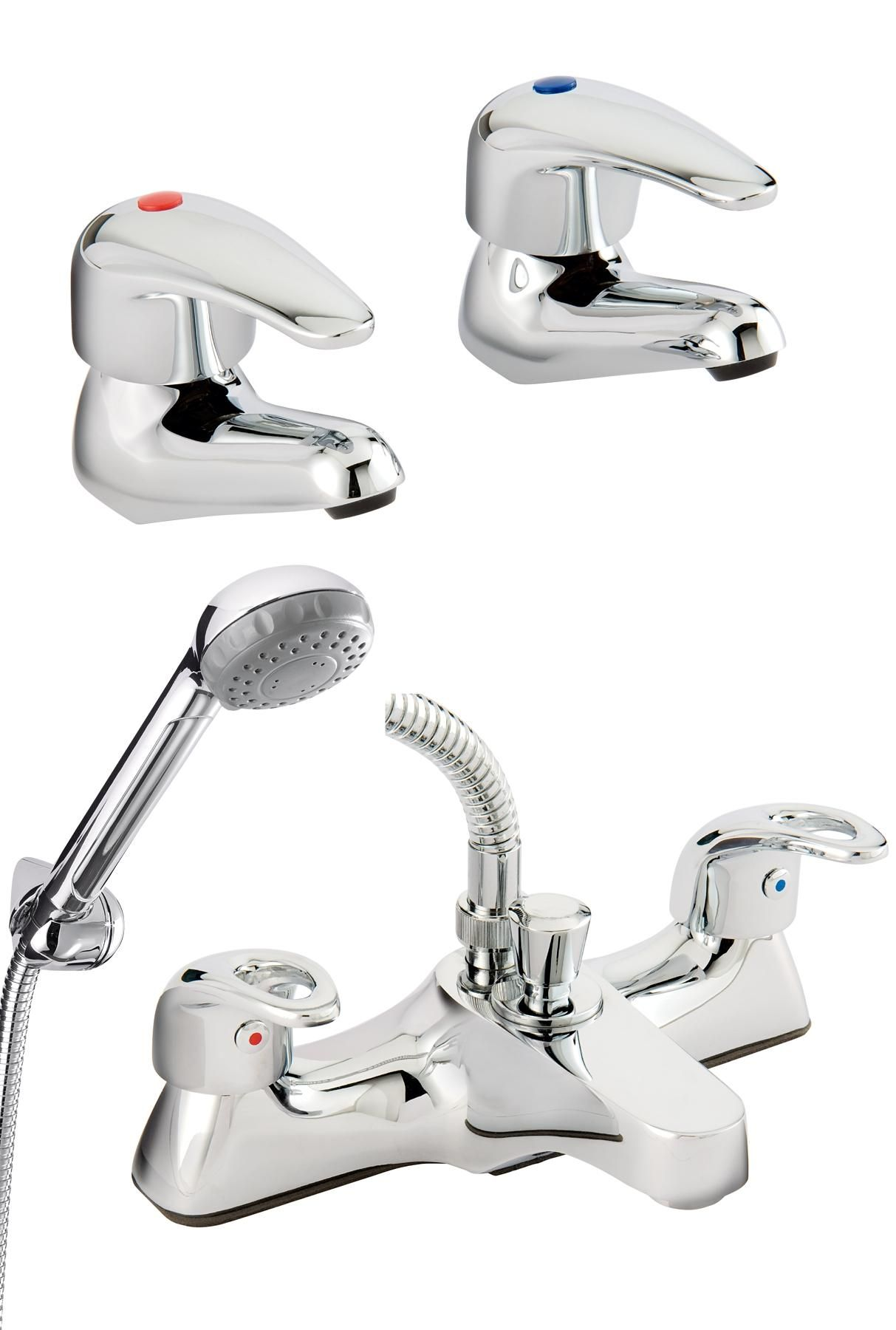 Bristan Single Lever Basin Taps + Bath/Shower Mixer Taps | kandco ...