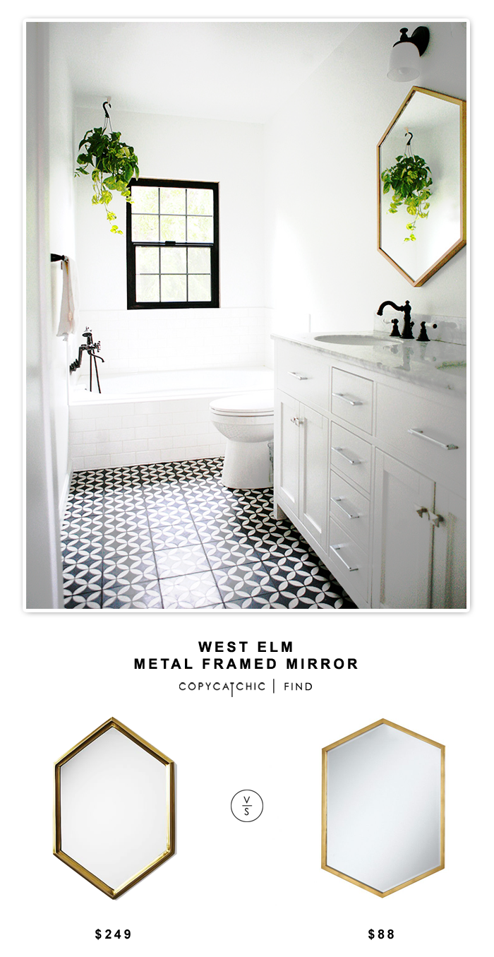 West Elm Metal Framed Mirror (Copy Cat Chic) | Frame mirrors, Metals ...