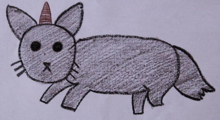 Gaticornio. Vive en la selva, come  pasto y el veloz.