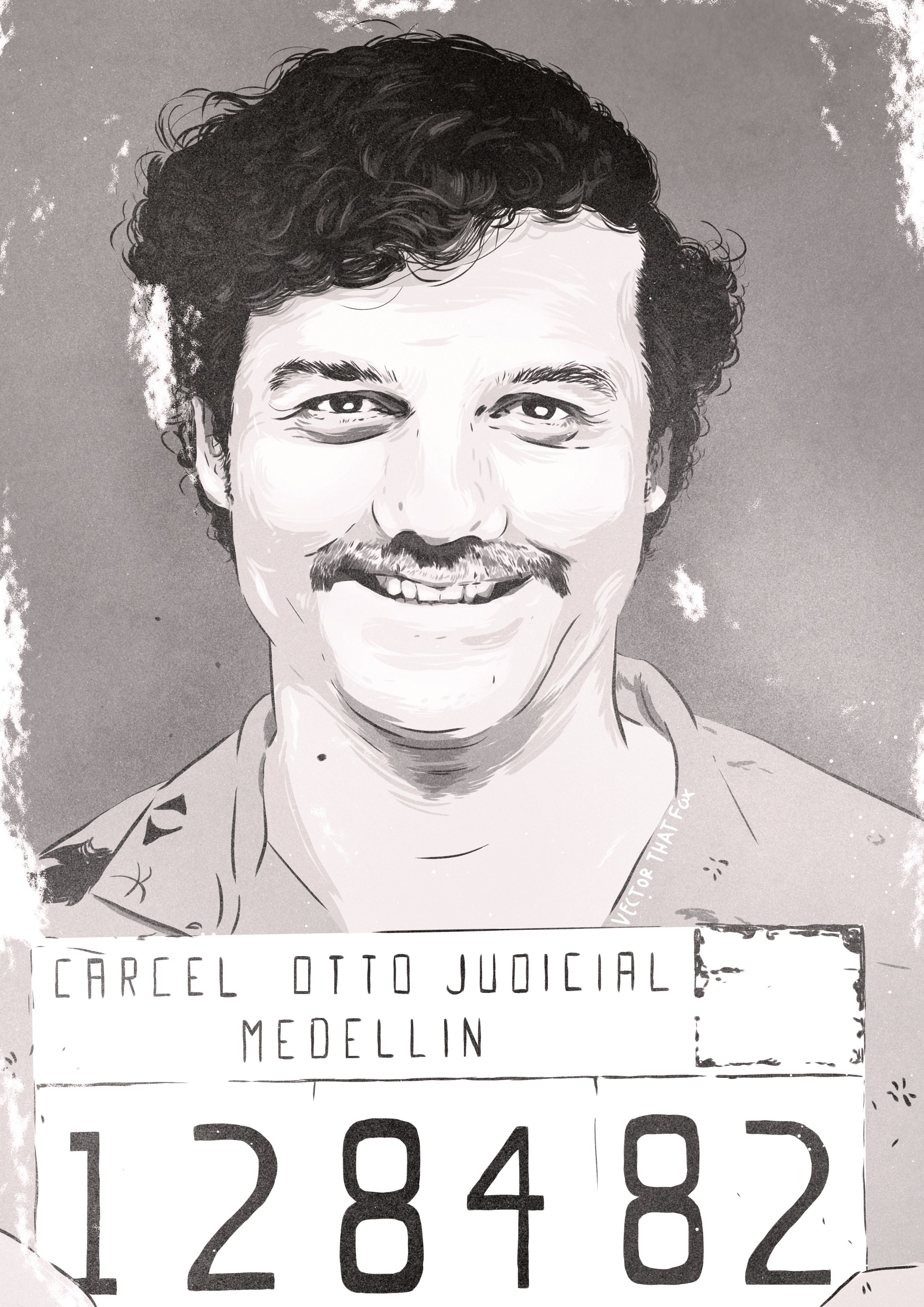 Pablo Mugshot Bag Black  Escobar El Chapo Guzman Kokain Kolumbien
