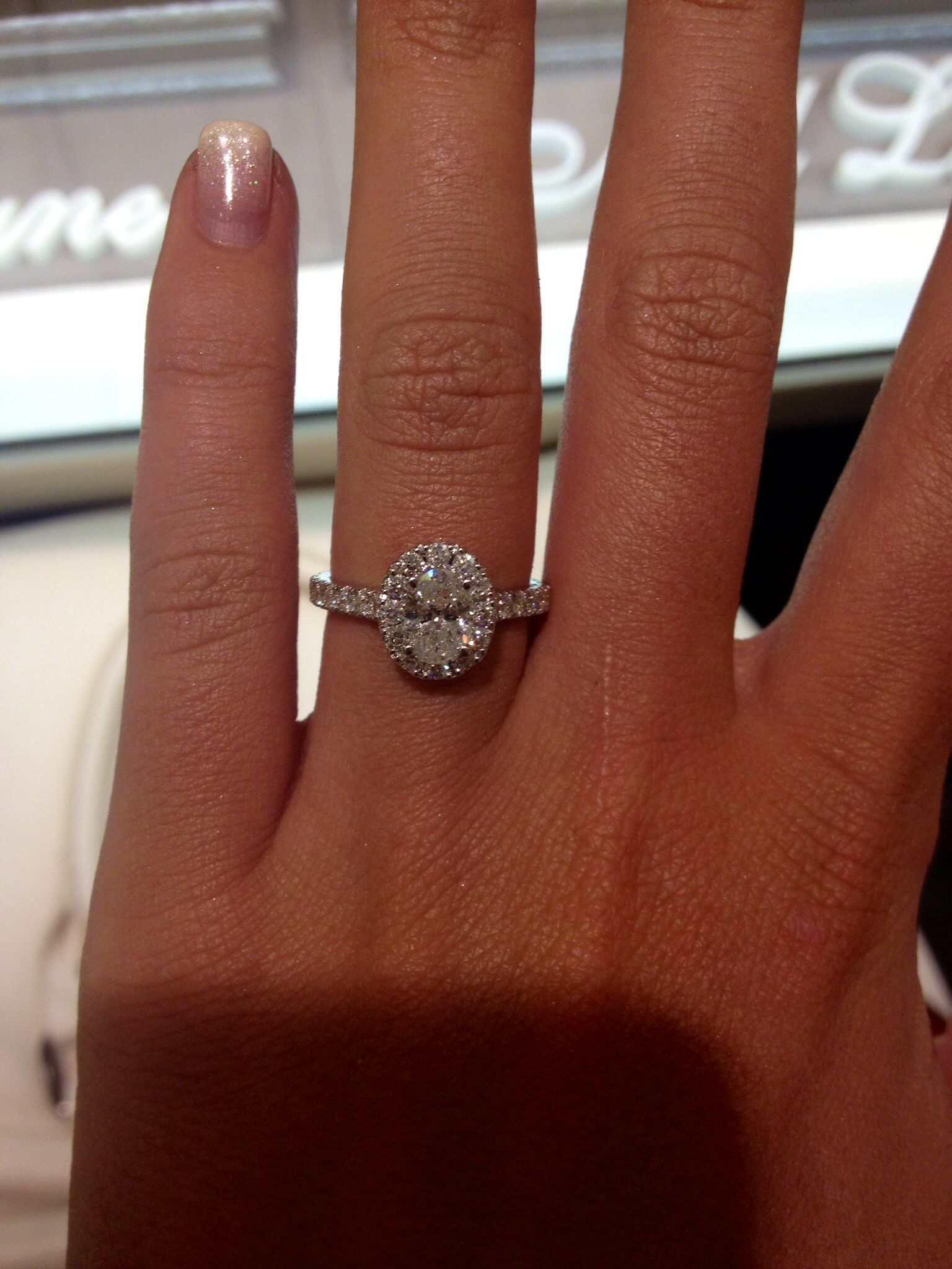 Neil lane oval engagement ring. Ugh I just love this so ...