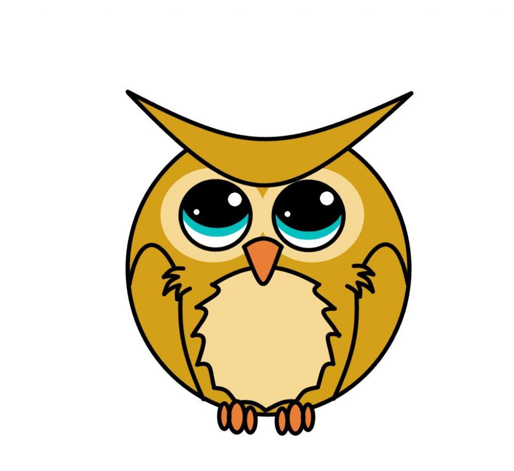 Cartoon Drawings Of Owls Cartoon Owl Coloring Page | Free | cartoon ...