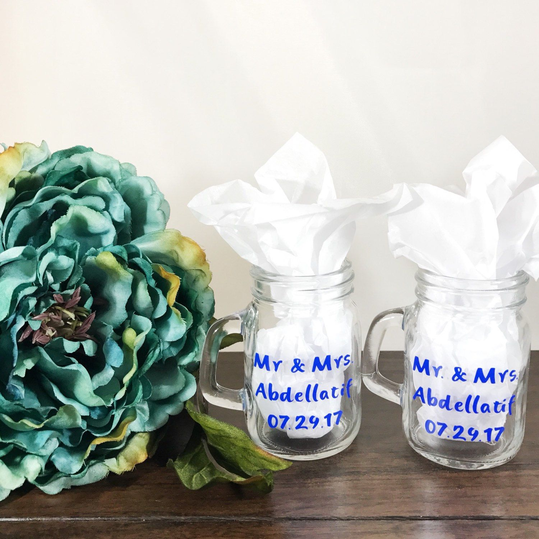 Mason jar shot glasses Party Favors Wedding Mr and