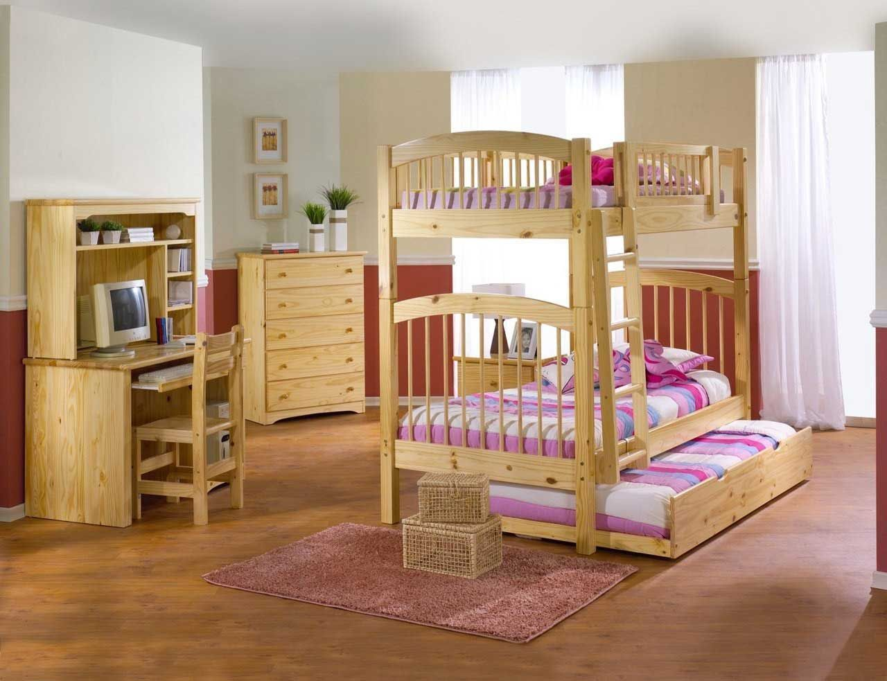Under loft bed ideas  Cool Kids Bunk Bed Ideas For Boys And Girls Room  Natural Wood