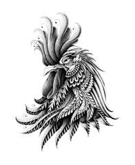 rooster fighting drawing - Google Search | Art | Pinterest ...