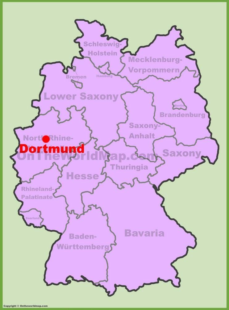 Dortmund location on the Germany map Maps Pinterest City