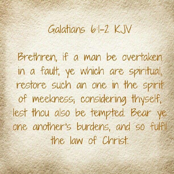 Galatians 6 1 2 Galatians Word Of God In Christ Alone