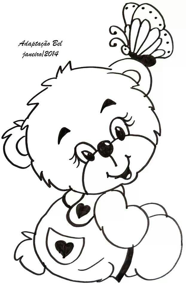 Ursinho Bear Floresta Encantada Para Colorir Desenhos De