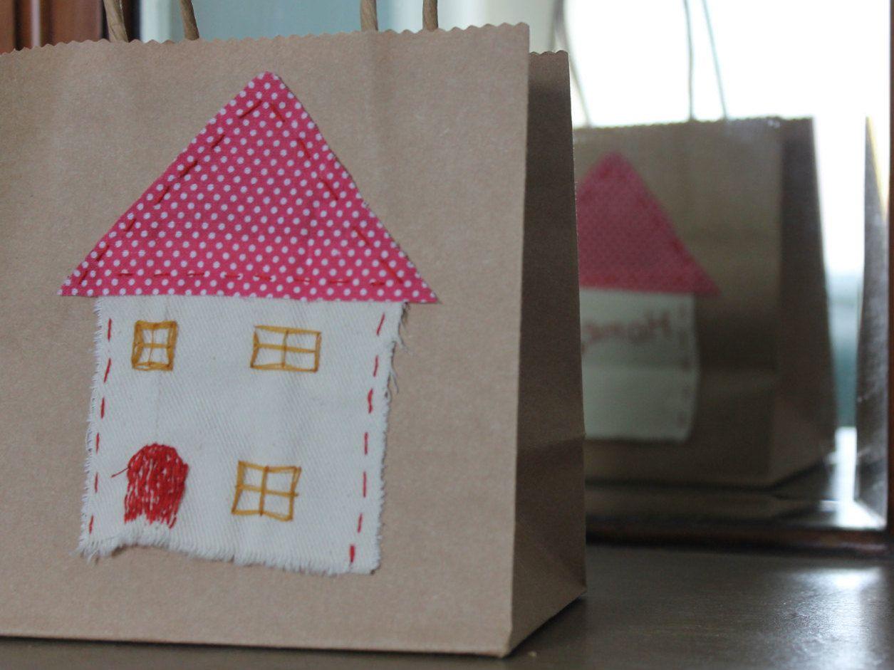 home sweet home small giftbag by katylizbet on Etsy