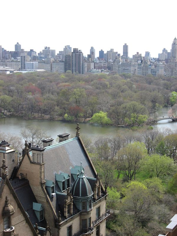 nyc central park looking east overlooking the roof of the dakota apartments on the upper west. Black Bedroom Furniture Sets. Home Design Ideas