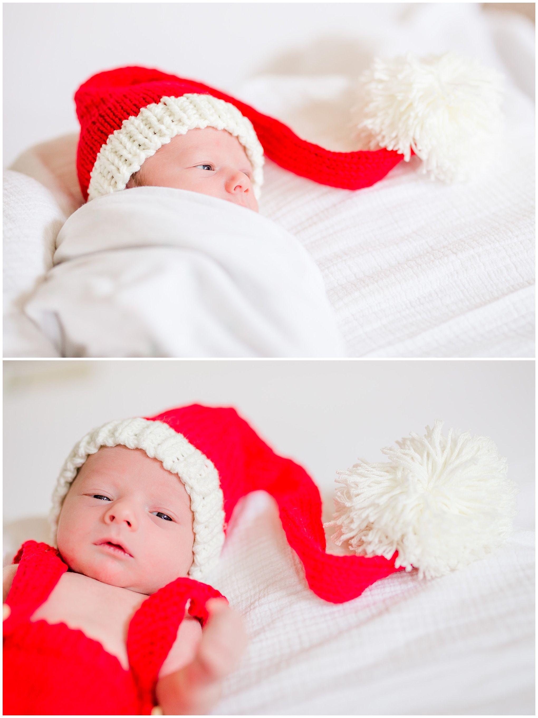 c1256692e Holiday Newborn Photos - Baby Vir