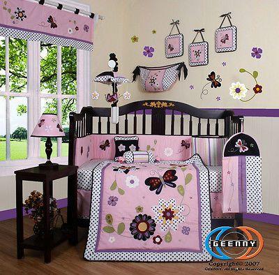 Baby Boutique Daisy Garden 13PCS Girl Nursery CRIB BEDDING SET