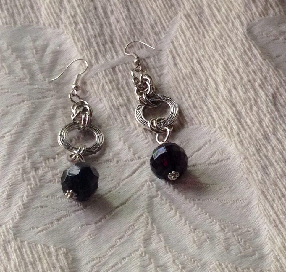 #Aros Argollas y Cristal Negro