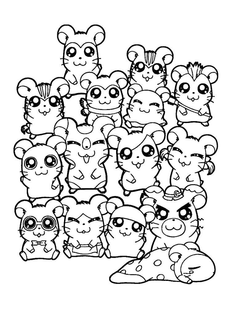 Free Cartoon Hamster Coloring Pages With Sunflower Seed Printable For Kids And Adults Hamster Cartoon Coloring Pages Free Printable Coloring Pages