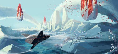 "run2damoon: "" İce planet by Ricean Vlad """