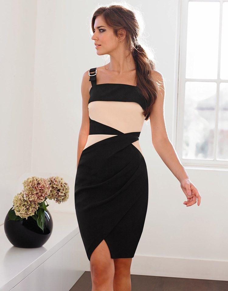 Lipsy Colourblock Panel Shift Dress   Short Dresses   Pinterest