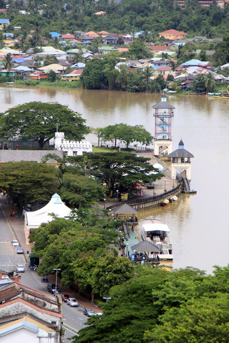 Houses Along The Sarawak River