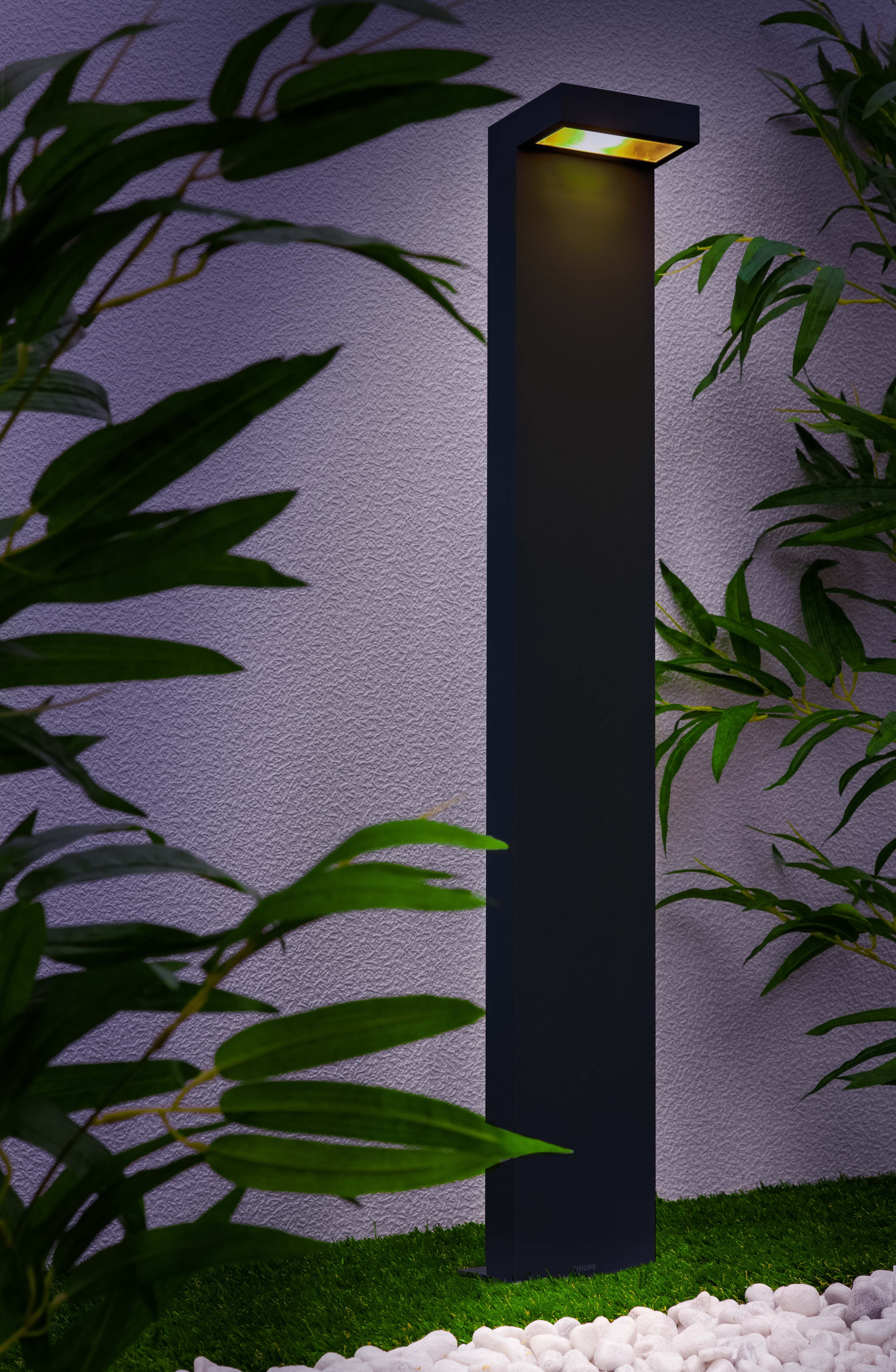 Philips Ledino Riverside Post Light Outdoor Lighting   In Amongst Plants Or  At Side F Driveway